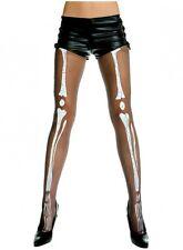Music Legs Punk Goth Gothic Sheer Skeleton Bone Print Pantyhose Tights Costume