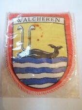 Ancien écusson / Blason - WALCHEREN - Tissu - NEUF - VINTAGE - 6 x 7,5cm