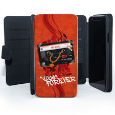 Retro Cassette Young Forever Orange Classic Leather Phone Case