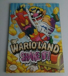 Prima's Official Strategy Guide Premiere Edition Wario Land Shake It W/ Poster