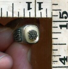 VINTAGE STERLING BRACELET CHARM~USA~MILITARY CLASS RING CHARM~CHEAP AT $16.00!!