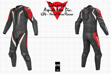 NEW DAINESE ASPIDE DIV NEW MEN SUIT BLACK RED SIZE EU 56 US 46