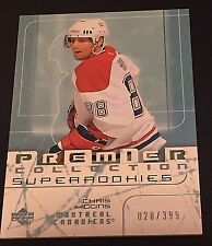 CHRIS HIGGINS 2003-04 UD Premier Collection SUPER ROOKIE #73 SN#d /399 CANADIENS