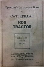 Caterpillar Diesel RD6 Tractor Operator & Parts Manual (2 BOOKS) 218p Crawler D6