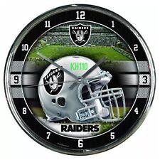 "NFL Oakland Raiders Wall Clock Decoration Bar Garage Mancave Decor 12"""