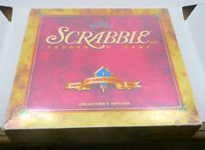 SCRABBLE 50TH ANNIVERSARY BOARD GAME, COMPLETE IN BOX, TIMER, TURNTABLE ++