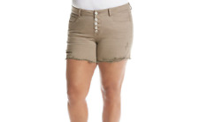 Hippie Laundry Woman's Plus Size Faded Shorts Latte  jean distressed MSRP $48.00