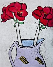 Amaryllis, Limited Edition Colored Etching, Richard Spare