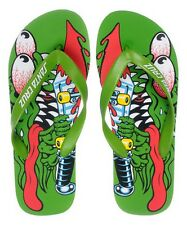 SANTA CRUZ green flip-flops infradito uomo donna SLASHER surf 38 IT US 7½ BNWT