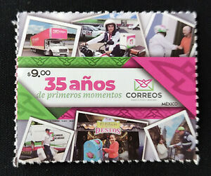 MEXICO 2021 POSTMEN, Motorcycle, mail transp. Post anniv. self adh. stamp, nice
