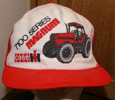 Case 7100 Series Magnum Farm Tractor Trucker Vintage Snapback Mesh Cap Hat USA