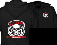 Lucky 13 Skull & spade Hoodie custome motorcycle streetfighter