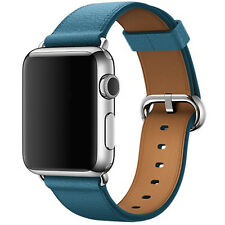 Piel Auténtica Deporte Correa Pulsera Pulsera De Muñeca Para Apple Reloj