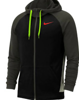 Nike Fleece Zip Black/Red/Green Hood Zip Up Men's UK Size Small *REF135*