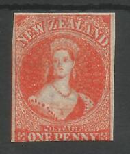 NEW ZEALAND SG33 THE 1862-4 EARLY VICTORIAN 1d ORANGE VERMILLION MINT CAT £950