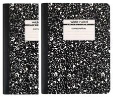 Staples Black Wide Ruled Composition Notebook 2 Pack