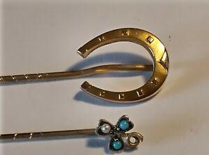 2 X Antique  Victorian stick pins .