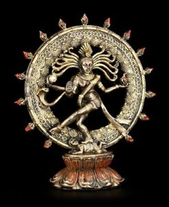 Shiva Figur als Nataraja - im Flammenkreis - Hindu Gottheit Buddha