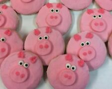 HOME MADE ICED PIG SHAPPED  SUGAR COOKIES by NEEDFULL THINGS