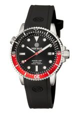 NEW Deep Blue Master 1000 Men's Automatic Diver Watch - Black/Red Bezel (Coke)