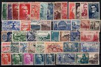 Q139714/ FRANCE – YEARS 1938 - 1953 USED SEMI MODERN LOT – CV 180 $