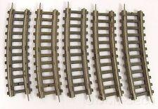 Konvolut Piko 5 Gleise gebogen mittlere Länge Hohlprofil Schwellenband Pappe H0