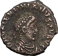 Valentinian II 375AD Authentic Ancient Roman Coin Wreath of success i56529
