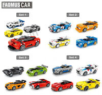 Super Car Famous Racing Cars Buliding Blocks set with DIY Toys compatible Lego