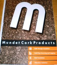 1950 MUNDET CORK Catalog, ASBESTOS Insulation Cold Pipe Covering Cement