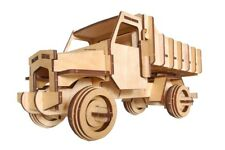 3D Car Tip Truck Woodcraft Construction Kit - Wooden Model Building Puzzle Game