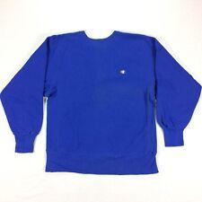 Champion Reverse Weave Vintage Sweatshirt 80s 90s Thick Blue Usa Made Sz Large L