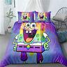 Spongebob Single/Double/Queen/King Bed Quilt Duvet Doona Cover Set Linen