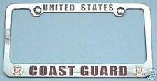 COAST GUARD - License Plate Frame With Logos plain