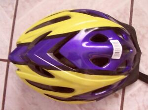Schwinn Thrasher Bicycle Helmet Size Large Yellow &Violet