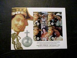 "Antigua/Barbuda ""Golden Jubilee"" Souv Stamp Issue Lot of 10 (4v ea) MNH OG"