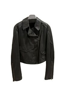 Diesel Black Leather Biker Style Leather Jacket - Size - Brand New Without Tags