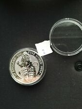 Queens Beasts £5  Lion of England BU 2oz silver coin 2016