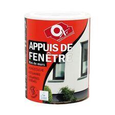 PEINTURE MONOCOUCHE APPUIS DE FENETRE 1L BLANC 15 ANS BRIQUE PARPAING OXYTOL