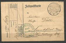 GERMANY. WW1. 1917. FELDPOST. CARD. CAVALRY. MOUNTED RIFLE REGIMENT.
