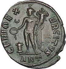 Maximinus II 'Daia' 310AD Ancient Roman Coin Genius Cult Protection  i46467