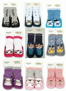 Girl/Boy Toddler Anti-slip Mocassin Warm Slipper Socks Thermal Shoe 12M 2 3 4y