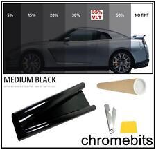 "CAR VAN BUS WINDOW TINT FILM TINTING MEDIUM BLACK SMOKE 35% 76cm x 3M  30X118"""