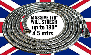 Extra Long Shower Hose 4.2mtr Expandable Stainless Steel Anti-Kink 4.2m