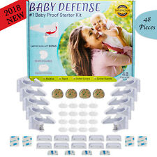 NEW 48 PC Child Safety Cabinet Locks and Latches Baby Home Starter Kit - White