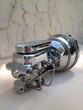 "1955-59 Chev GMC truck 7"" chrome power brake booster master cylinder disc disc"