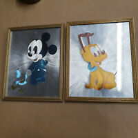 Mickey Mouse and Pluto Foil Art 1985 Pictures