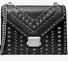 Michael Kors Whitney Borsa a tracolla con borchie argento grande