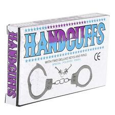 5 PAIRS METAL STEEL HANDCUFFS MAGIC TRICK PRANK GAG GIFT PARTY FAVOR CARNIVAL