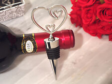 20 Two Hearts Become One Bottle Stoppers Wedding Favors Bridal Shower Favor