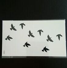 Temporaneo piccole BLACK BIRD TATUAGGI FAKE TATTOO
